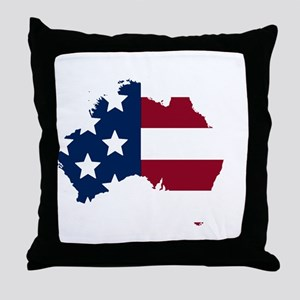 Australian American Throw Pillow